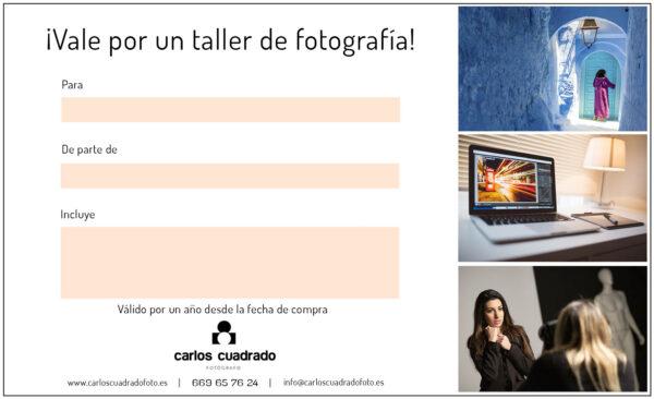 tarjeta regalo curso fotografía